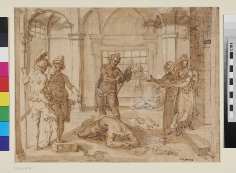 Beheading of St John the Baptist (WA1863.794, recto)