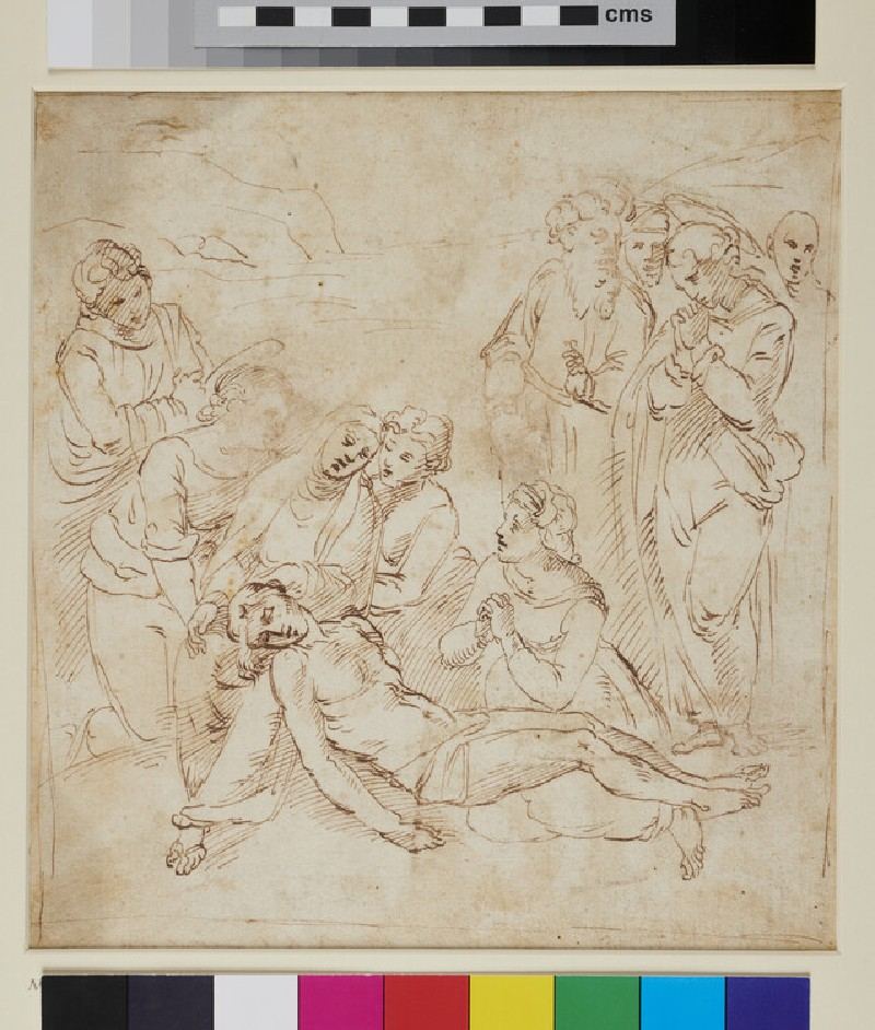 Composition of ten figures for a Pietà