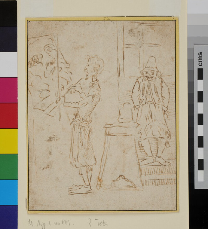 Caricature Portrait of an Artist (WA1863.869, recto)