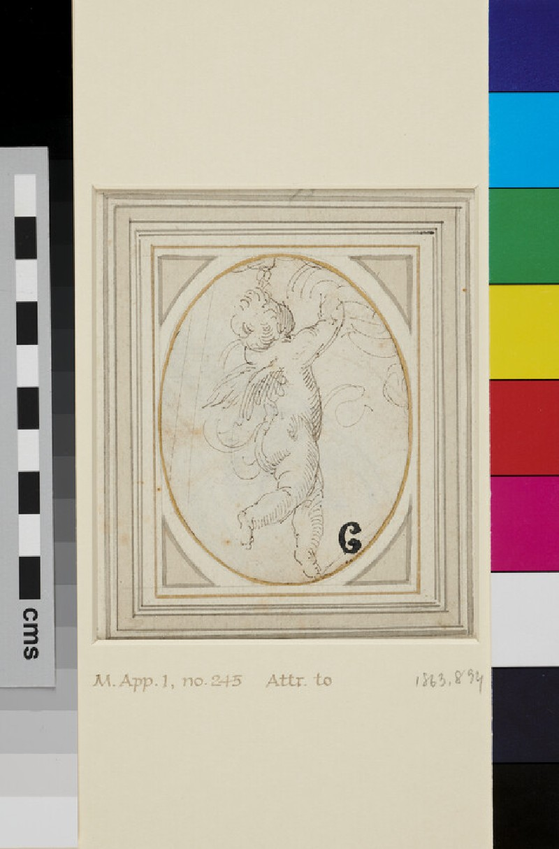Flying Putto (WA1863.894, recto)