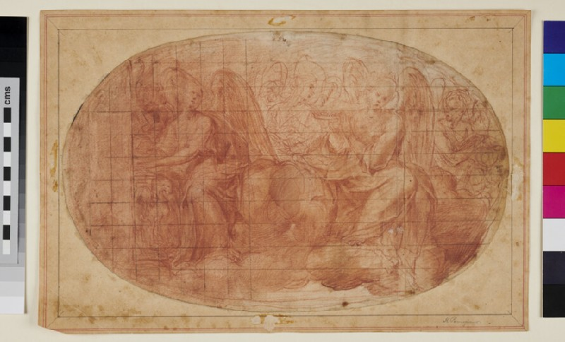 Musician Angels on Clouds (WA1863.898, verso)