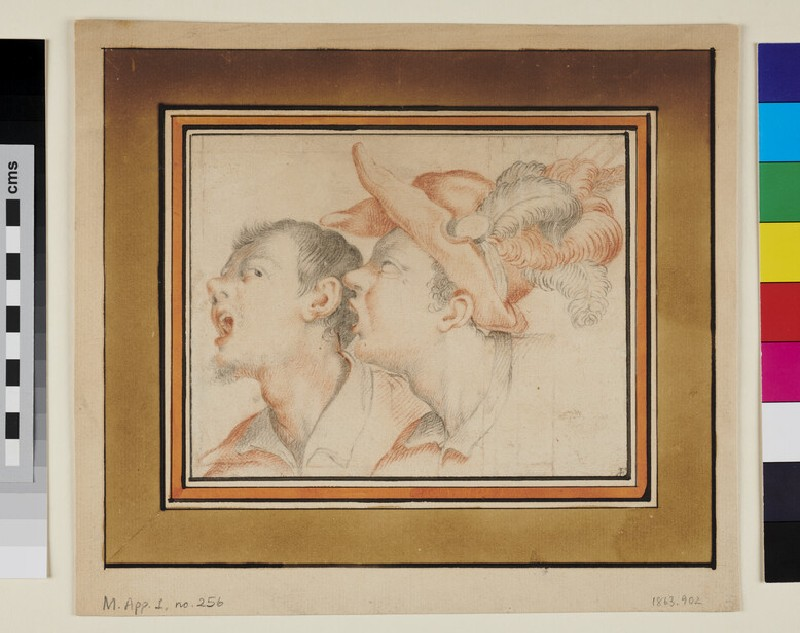 Two Male Heads (verso)