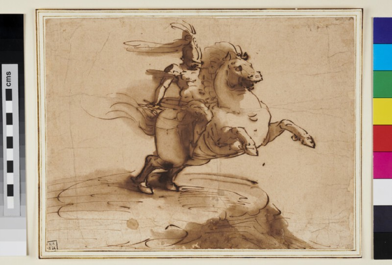 Marcus Curtius galloping into the Abyss