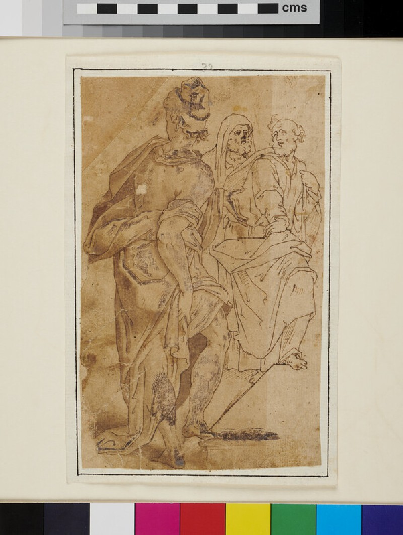 Three male Figures, from 'The Circumcision of Jesus'