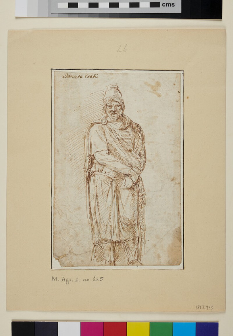 Statue of a Man in a Phrygian Cap, after the Antique (WA1863.933, verso)