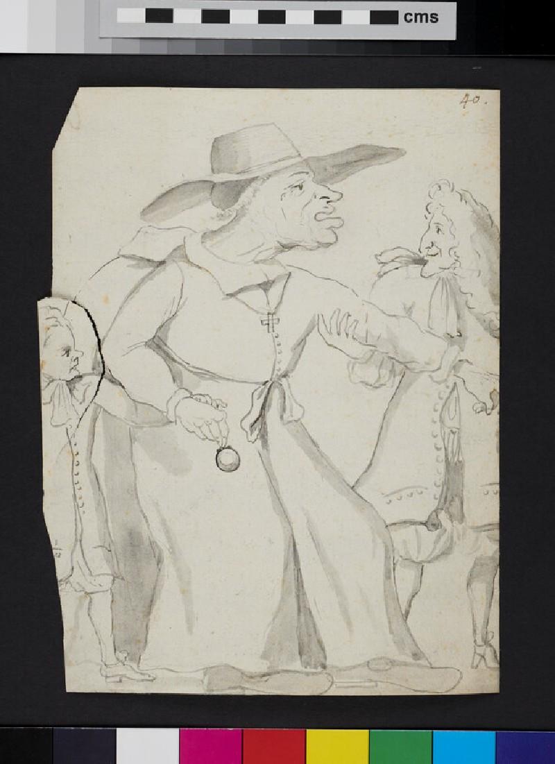Caricature of three Figures (WA1863.960, verso)