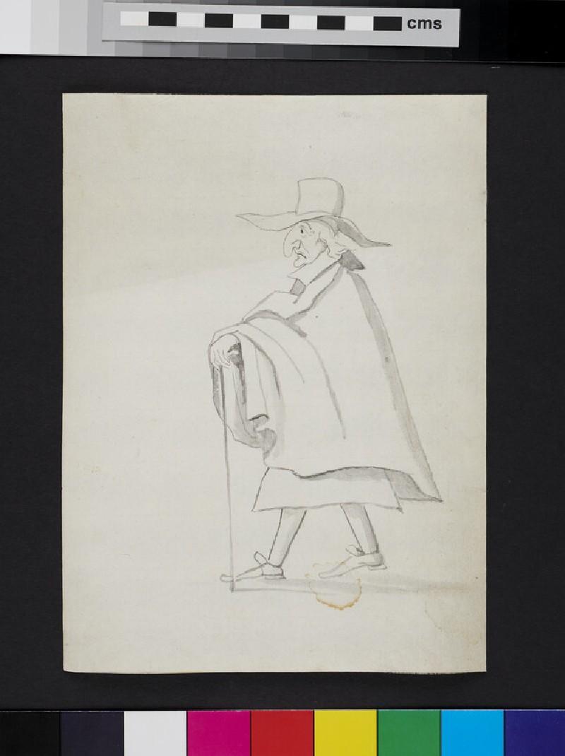 Caricature (WA1863.977, verso)
