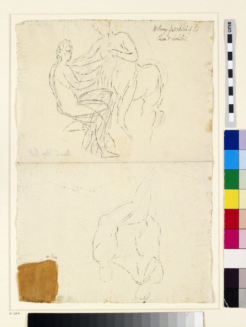 Recto: Studies for 'The Education of Achilles'<br />Verso: Further study for the same composition (WA1863.1039)