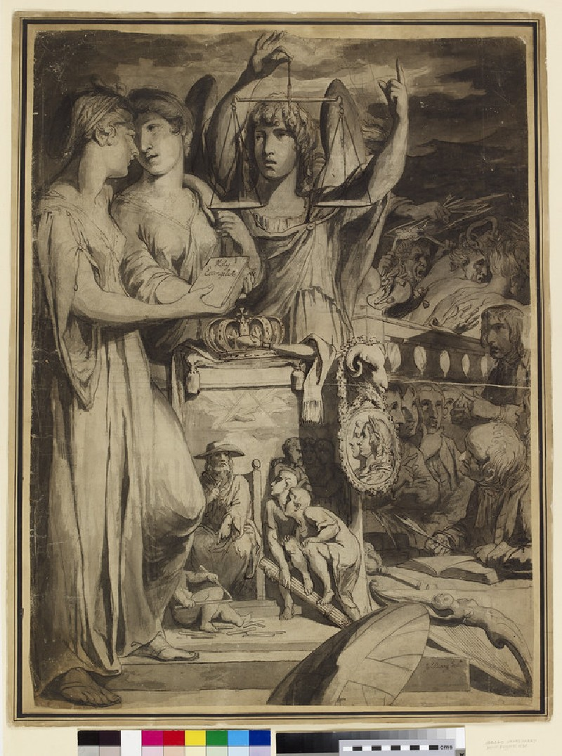 Allegory of the Union of Britain and Ireland (WA1863.1065)