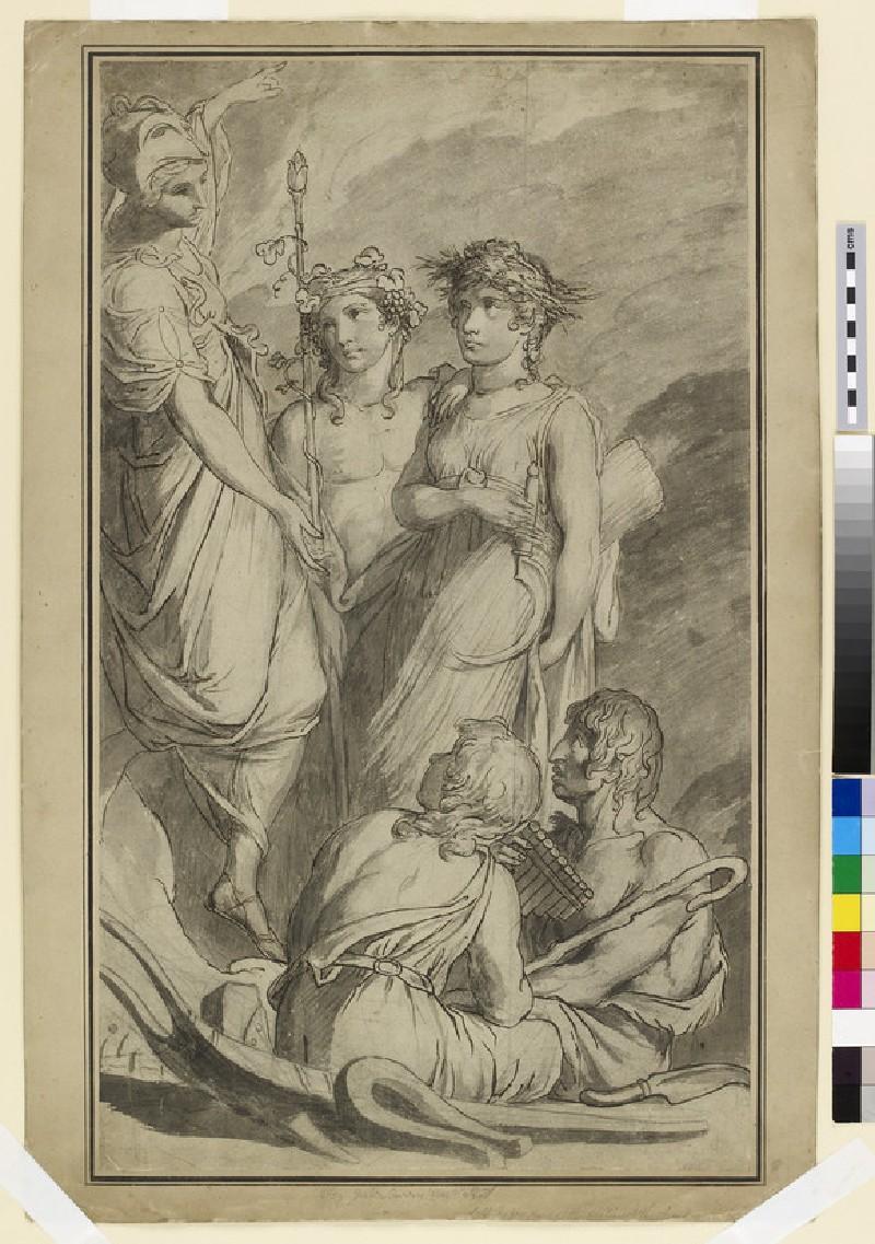 Minerva Instructing her Rural Companions (WA1863.1066)
