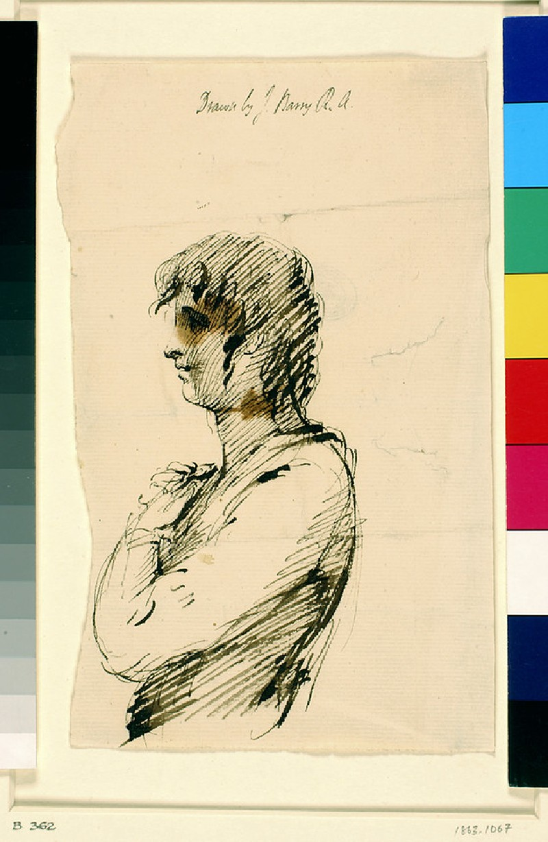 A Youth in Profile to Left (WA1863.1067)