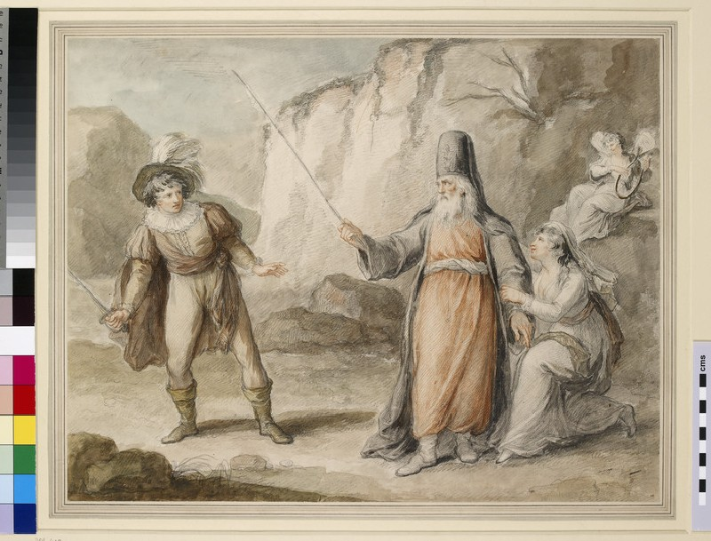 Ferdinand, Prospero and Miranda ('The Tempest') (WA1863.1071)