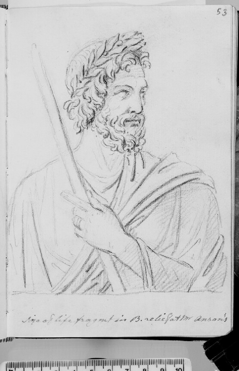 A Roman poet after a relief, now in Shugborough (WA1863.1093.53)