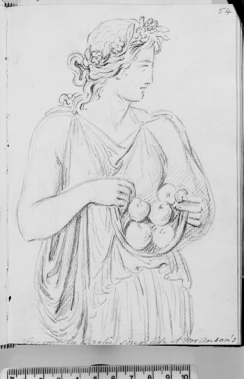A woman bringing fruits, probably Pomona