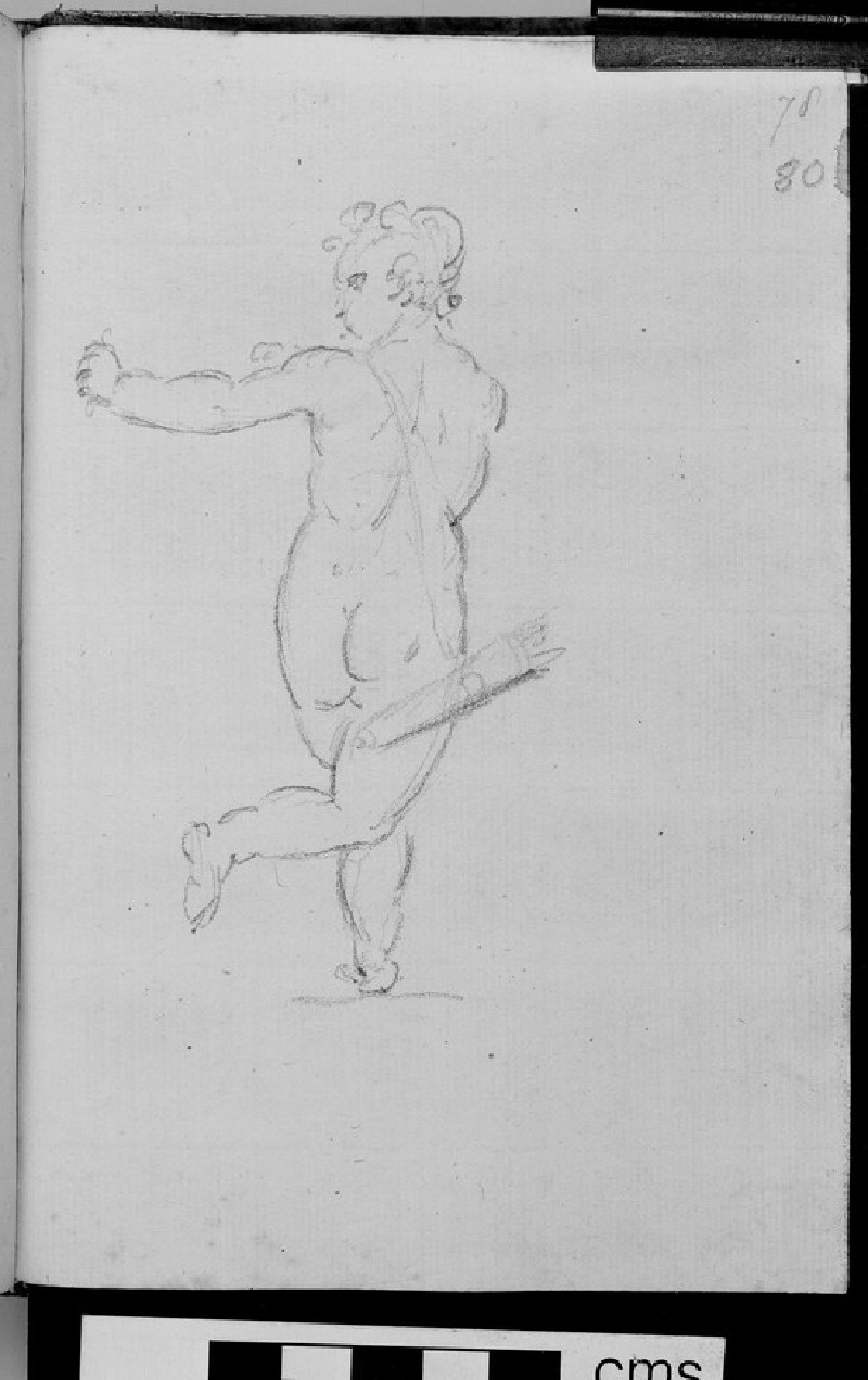 A figure shooting an arrow, probably Cupid, after a sculpture (WA1863.1094.80)