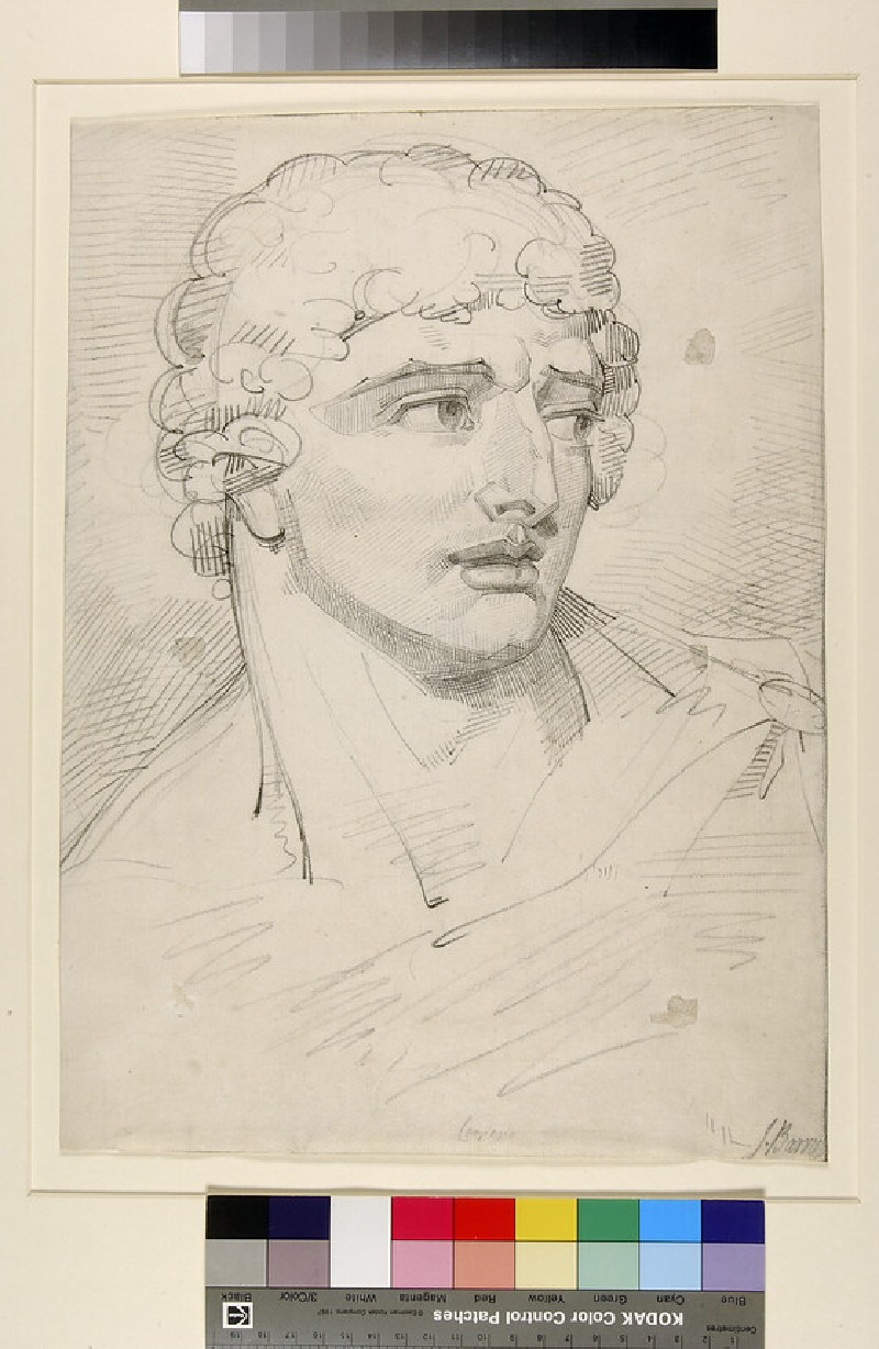 Study of the Head of a Man in three-quarter profile, after Cambiaso