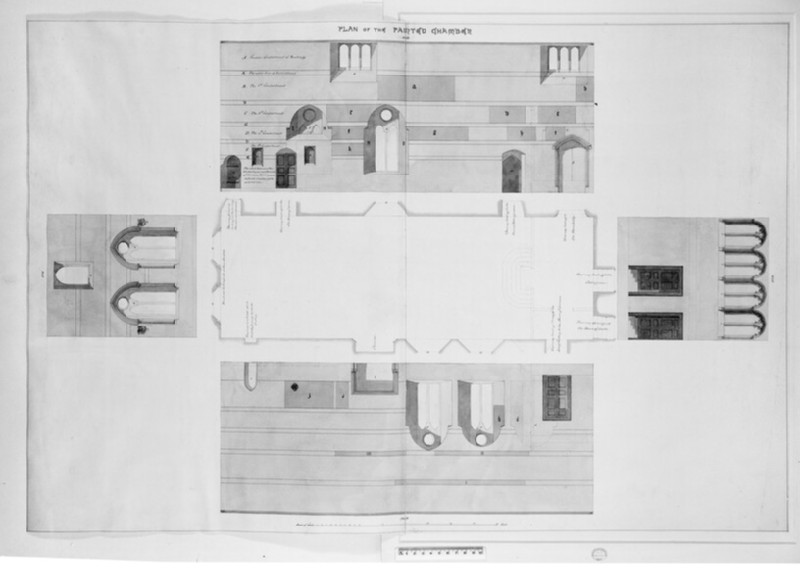 Plan of the Painted Chamber (WA1863.1468)