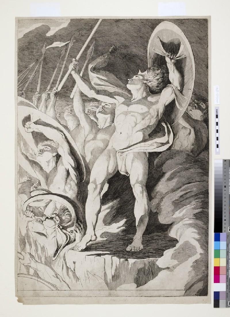 Satan and his Legions hurling Defiance toward the Vault of Heaven (WA1863.1841)