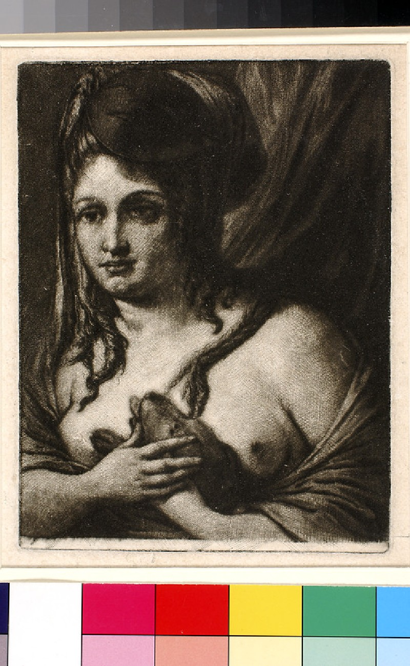 The Girl with Mask and Dog (WA1863.1852)