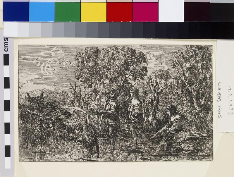 Le passage du gué (The ford) (WA1863.1865)