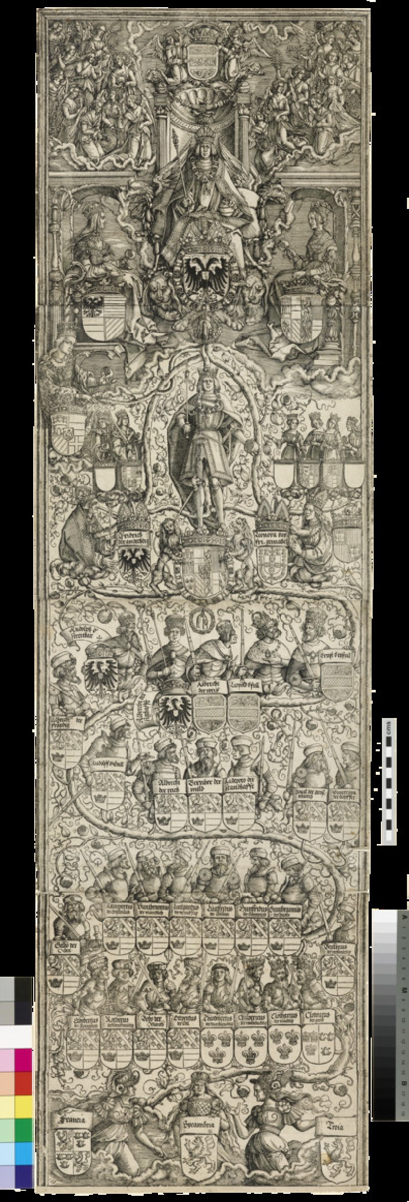 The genealogical chart of the Emperor Maximilian I (WA1863.2573)