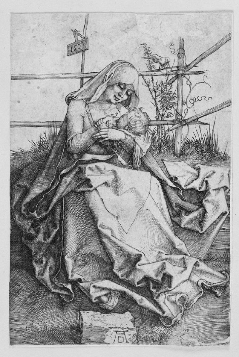 The virgin and child on a grassy bank (WA1863.2954)