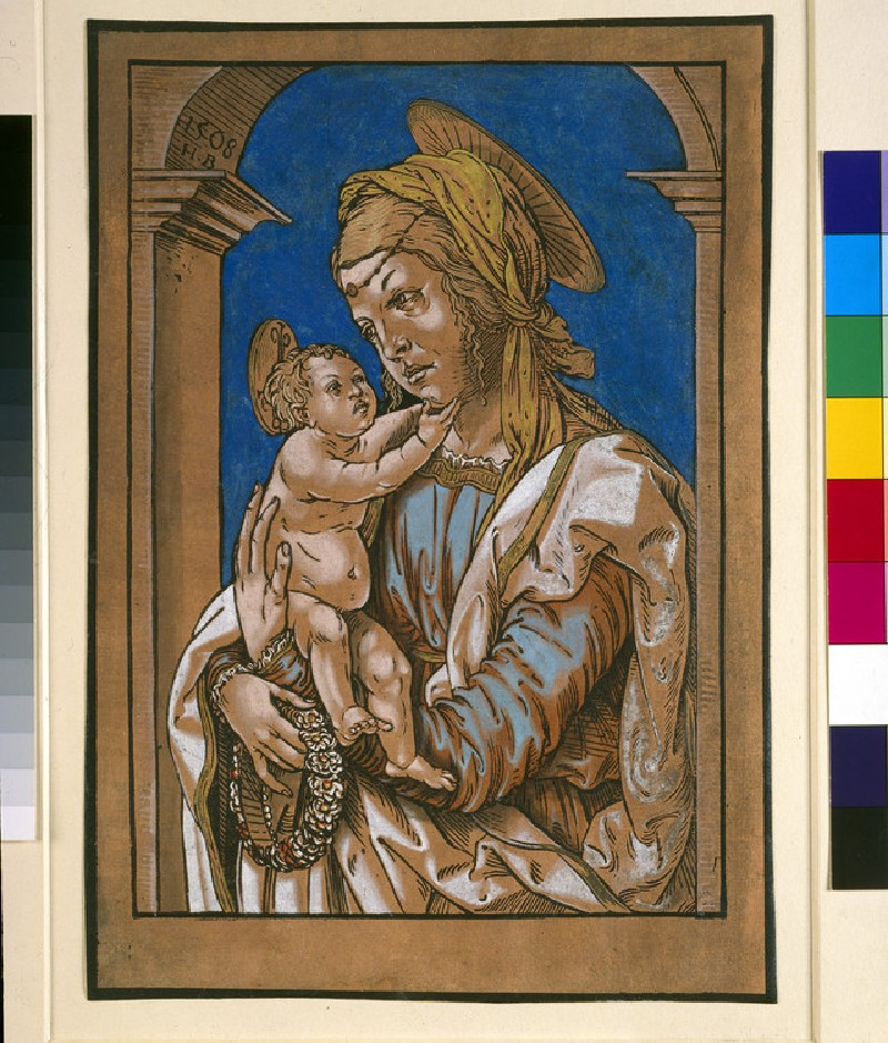 Madonna and Child under an arch