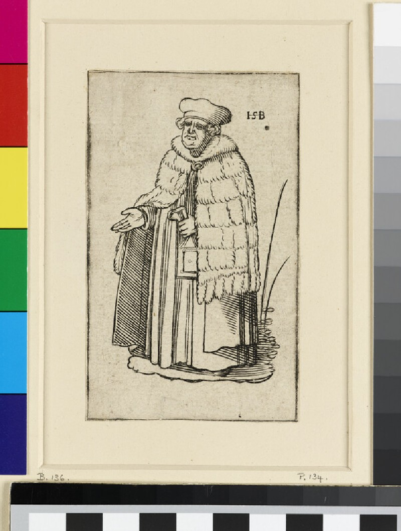 A clergyman, copy in reverse