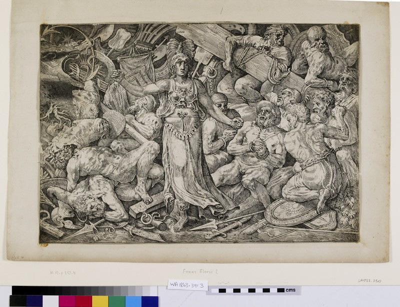 Victory surrounded by Prisoners and Trophies (WA1863.3913)