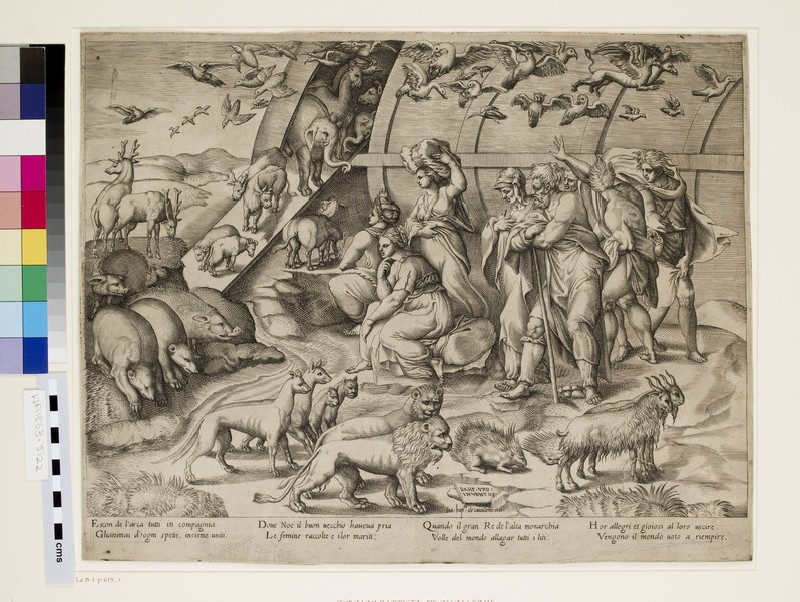 Noah and the Animals leaving the Ark