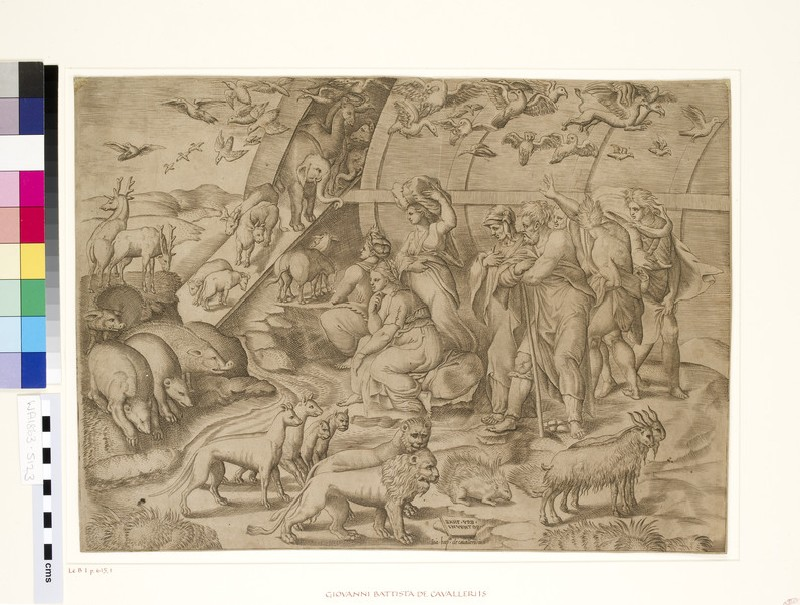 Noah and the Animals leaving the Ark (WA1863.5123)
