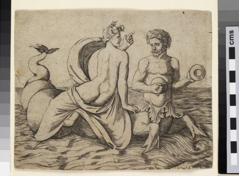A Triton carrying a Nereid
