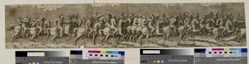 A procession of horsemen walking towards right (WA1863.5797)