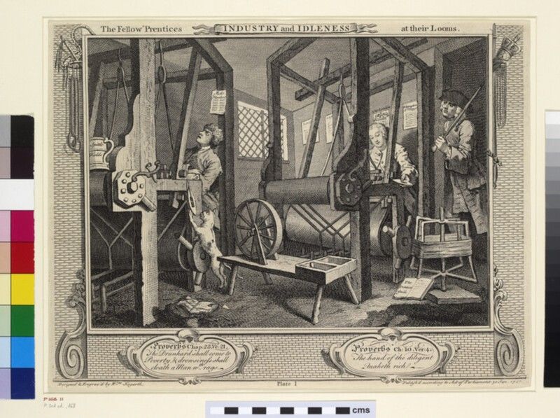 Industry and Idleness: The Fellow Prentices at Their Looms (WA1863.6111)