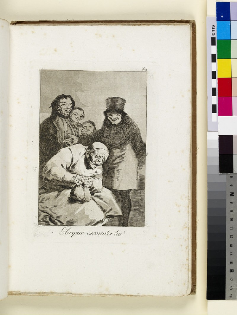 Plate 30: old man clutching money bags, laughing men behind him (WA1863.6450.30)