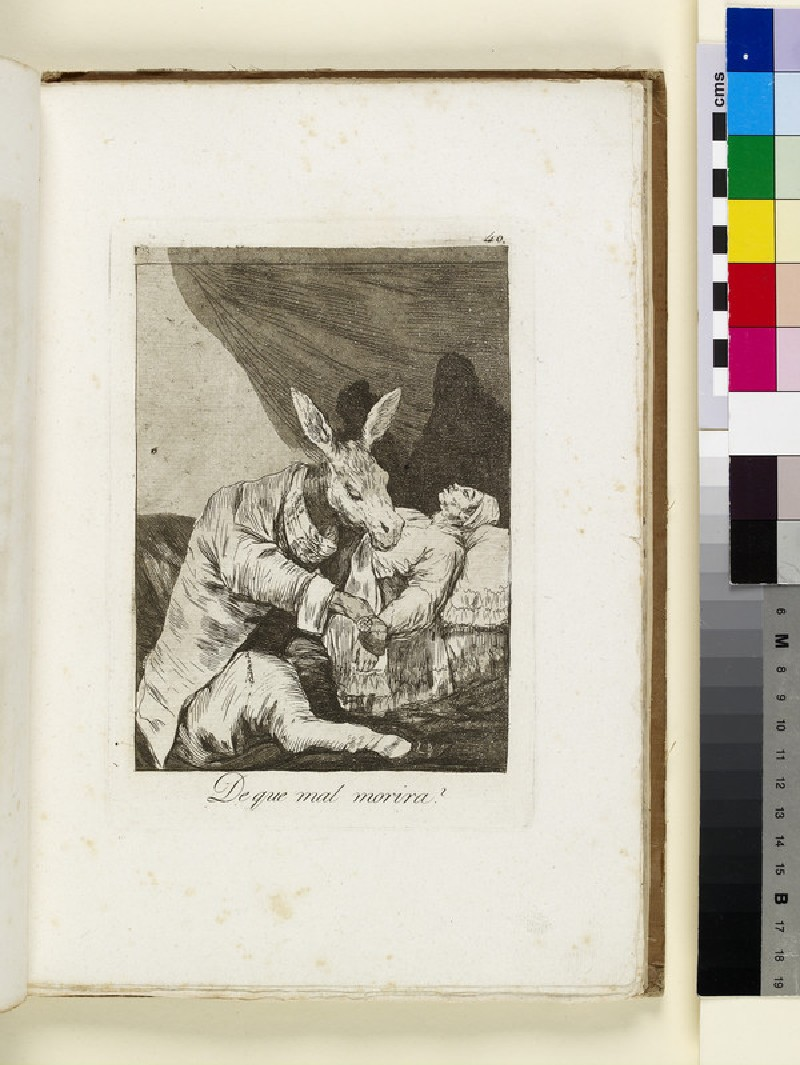 Plate 40: ass as doctor, attending sick man in bed