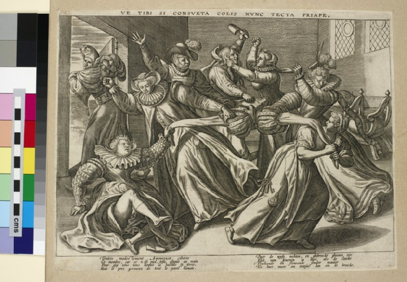 Women fighting for a man's trousers: the battle of the breeches