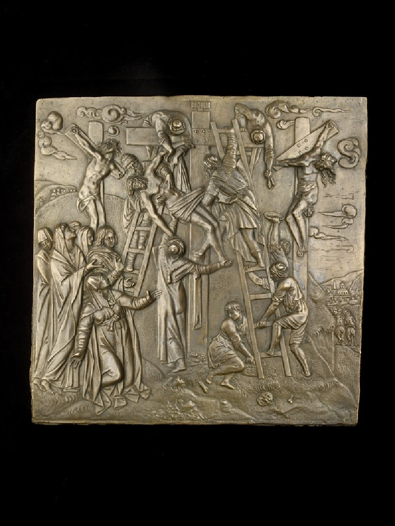 Rectangular relief with the Deposition (WA1888.CDEF.B688)