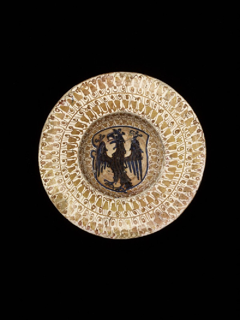 Broad-rimmed bowl with a heraldic eagle (WA1888.CDEF.C332)