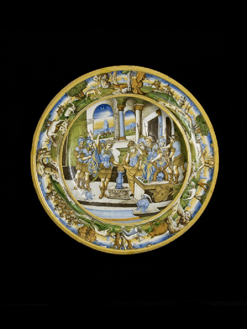 Plate with The Heroism of Mucius Scaevola