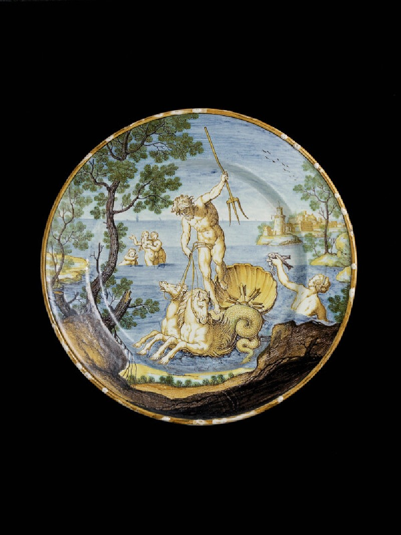 Plate with Neptune in his chariot