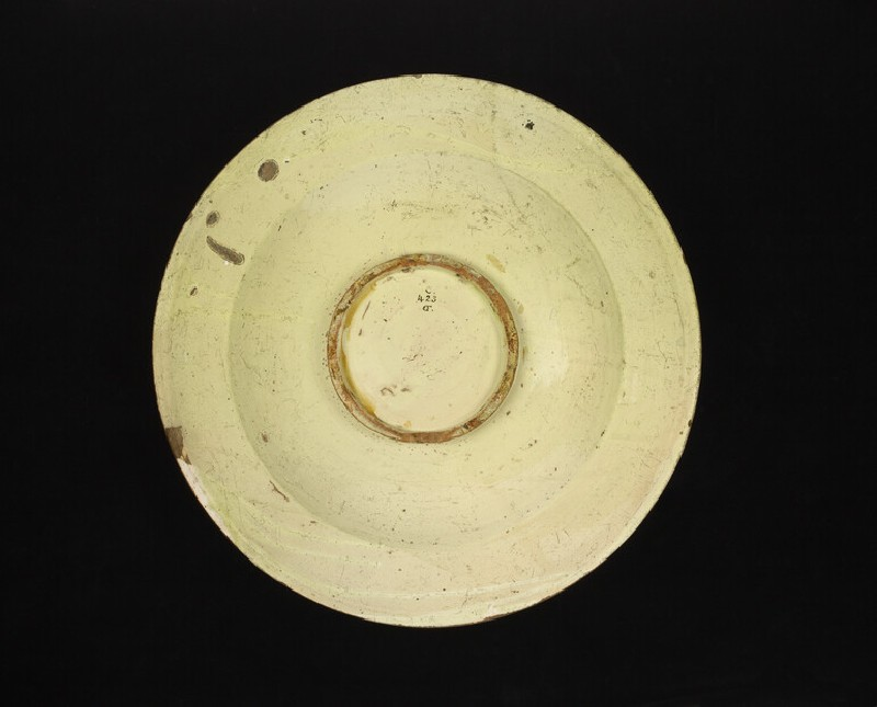 Plate, a huntsman