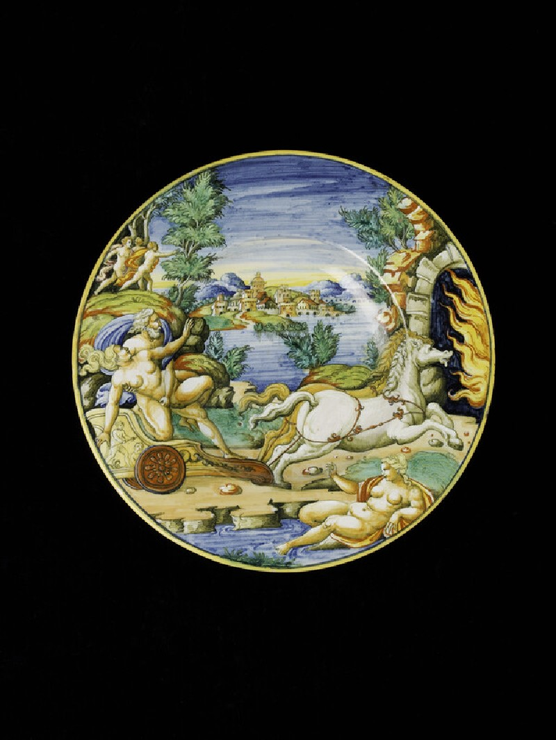 Plate with The Abduction of Proserpina