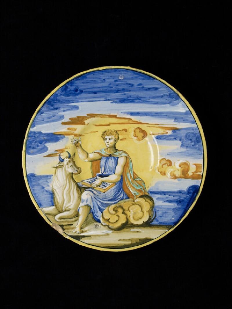 Plate with St Luke (WA1888.CDEF.C450)