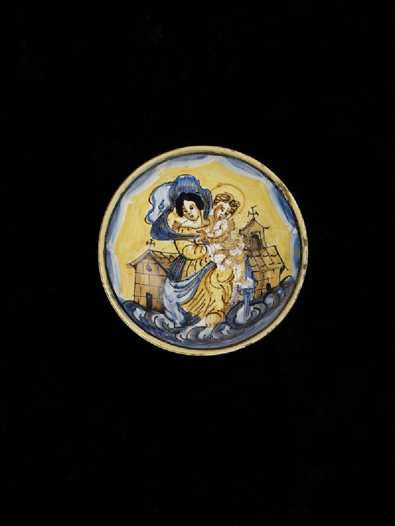 Drinking bowl,  the Madonna of Loreto (WA1888.CDEF.C464)