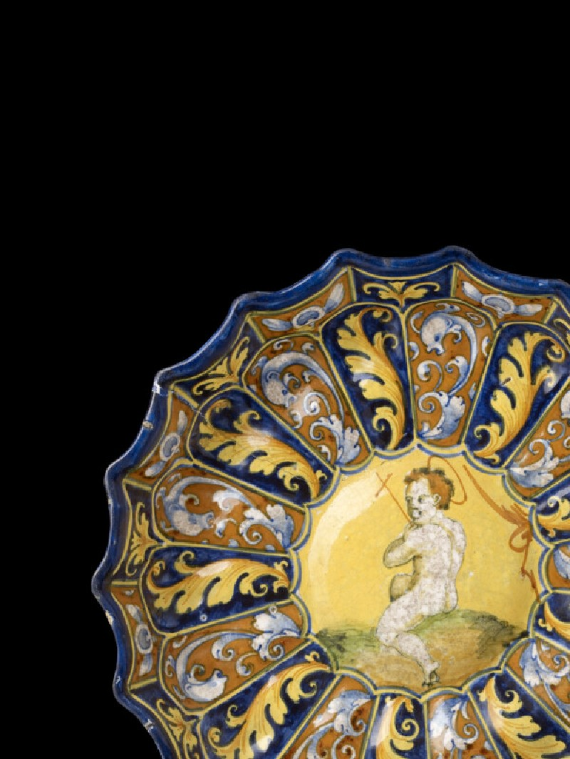 Mould-made bowl, The young St John the Baptist (WA1888.CDEF.C477)