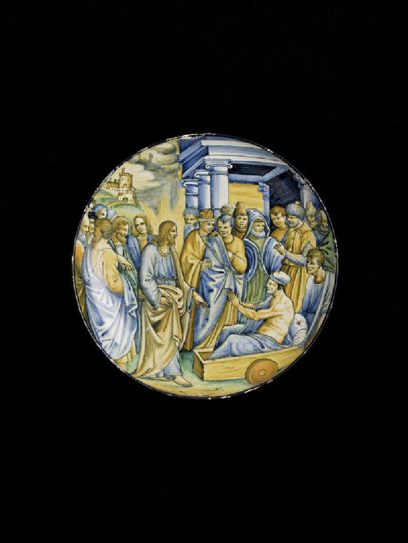 Shallow bowl with Jesus healing the man with palsy (WA1888.CDEF.C485)