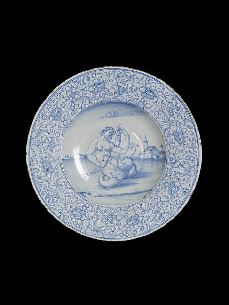 Dish, a mermaid (WA1888.CDEF.C492)