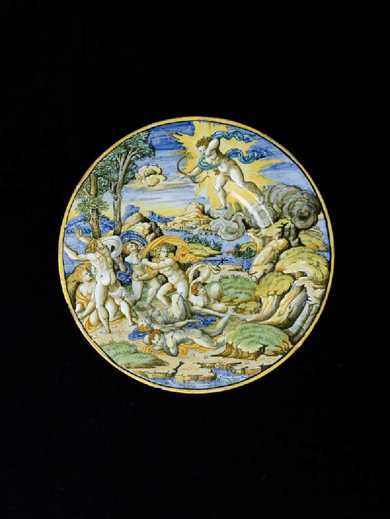 Plate, the death of the children of Niobe (WA1888.CDEF.C497)