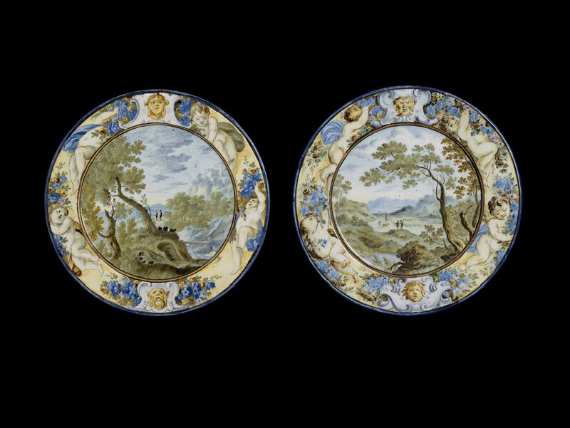 Plate with landscape